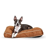 Tufted Pillow Top  Dog Bed (Brown)