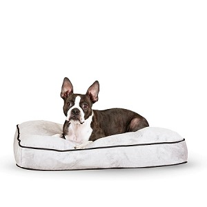 Tufted Pillow Top  Dog Bed (Gray)